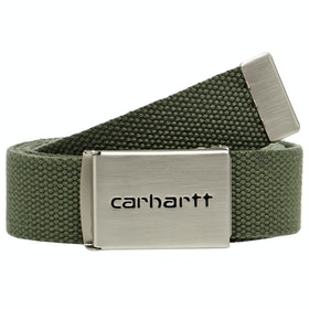 Carhartt Clip Chrome Web Belt - Dollar Green