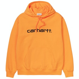 Carhartt Sweat Dame Pullover Hættetrøje - Pop Orange Black