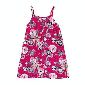 Roxy Exotic Night Girls Dress - Cerise Pansies