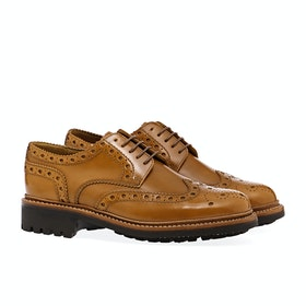 Grenson Archie Men's Dress Shoes - Amber Hi Shine