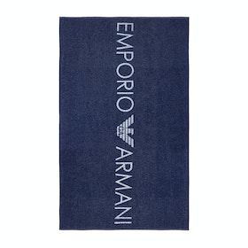 Emporio Armani Woven Women's Beach Towel - Blu Indaco
