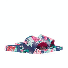 Joules Poolside Womens Sandály - Blue Floral
