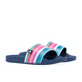 Joules Poolside Womens Sandály - White Multi Stripe