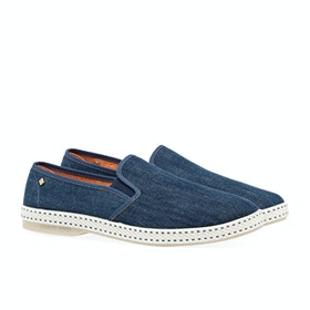 Rivieras Blue Jeans Men's Espadrilles - Blue Denim