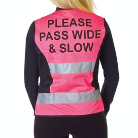 Hy Viz Adjustable Mesh Reflective Waistcoat - Pink Black