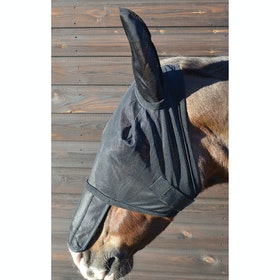 Hy Sunshield and Ears Fly Mask - Black