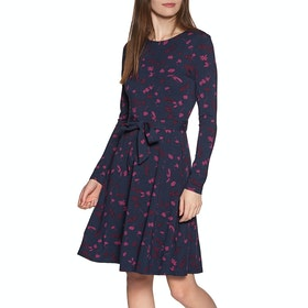 Joules Monica Womens Dress - Navy Berry Floral