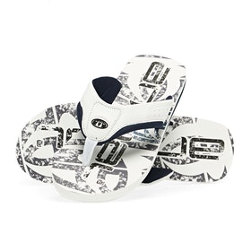 Sandales Animal Jekyl Logo - White Black