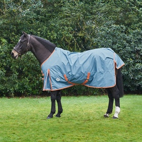 Derby House Pro Lightweight Standard Turnout Rug - Faded Denim Living Coral