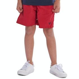 Barbour Essential Boy's Swim Shorts - Red