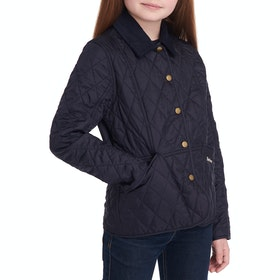 Barbour Shaped Liddesdale Quilted Jacket - Navy/pale Coral