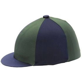 Hy Two Tone Lycra Hat Cover - Green Navy