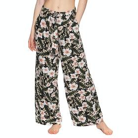 Volcom Coco Belted Pant , Trousers Kvinner - Black Combo