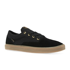 Volcom Draw Lo Suede Shoe Shoes - Black Out