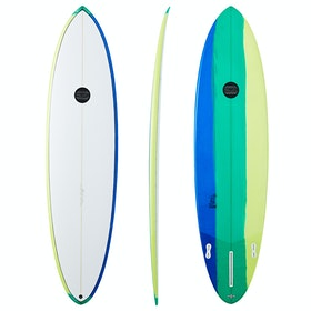 Maluku Joystick 2+1 FCS II Surfboard - Green Yellow Blue