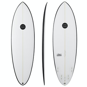 Maluku Lane Changer 5 Fin FCS II Surfboard - Black White