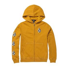 Volcom Deadly Stones Zip Boys Pullover Hoody - Gold