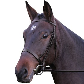 Hy Hunter with Rubber Grip Reins Snaffle Bridle - Brown