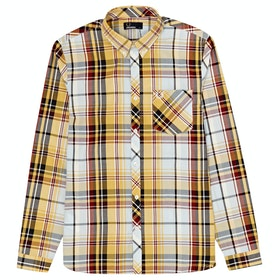 Fred Perry Madras Check LS Hemd - Sunset Gold