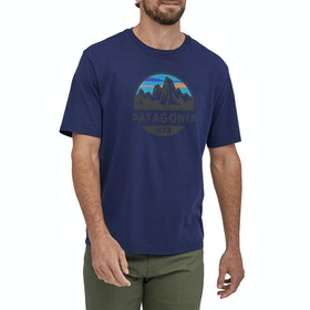 Patagonia Fitz Roy Scope Organic T Shirt - Classic Navy