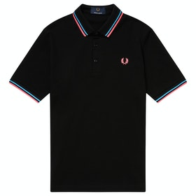 Fred Perry Re Issues Made In Japan Pique Polo-Shirt - Black