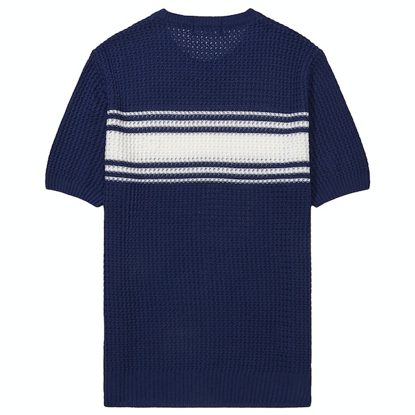 T-Shirt a Manica Corta Fred Perry Re Issues Striped Texture Knit Crew Neck