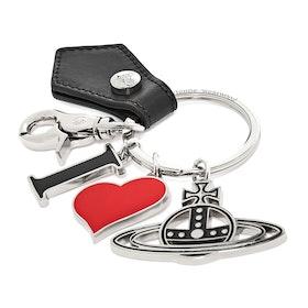 Porta-chaves Senhora Vivienne Westwood Alex I Love Orb - Black