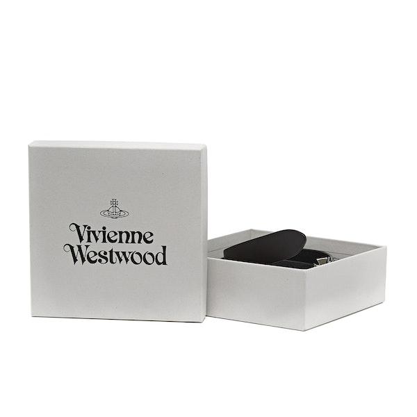 Cinto de Couro Senhora Vivienne Westwood Orb Buckle Palladio