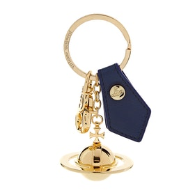 Porta-chaves Senhora Vivienne Westwood Sofia 3d Orb Light Gold - Blue