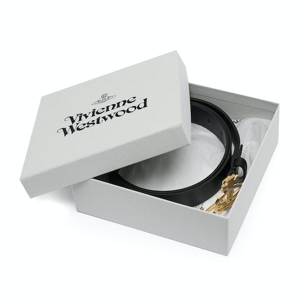 Vivienne Westwood Line Orb Buckle Light Gold Dame Læderbælte