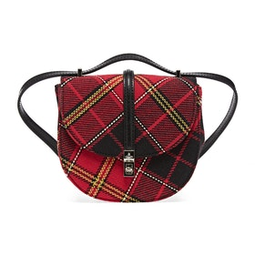 Vivienne Westwood Special Sofia Mini Saddle Dame Saddle Bag - Red Black