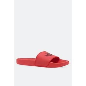 North Face Base Camp II Sliders - Fiery Red TNF Black