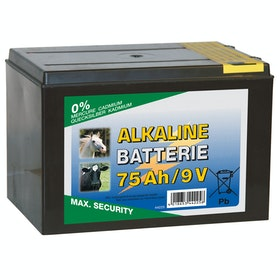 Corral Alkaline 75 AH 9V Dry Battery for Electric Fencing - Black