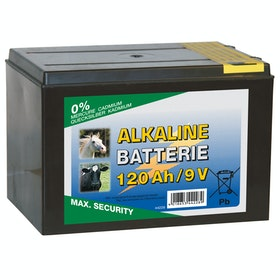 Corral Alkaline 120 AH 9V Dry Battery for Electric Fencing - Black