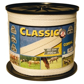 Corral Classic Tape 200m X 40mm Electric Fencing - White