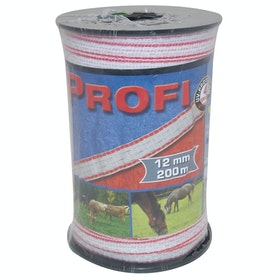 Corral Profi Tape 200m X 12mm Electric Fencing - White