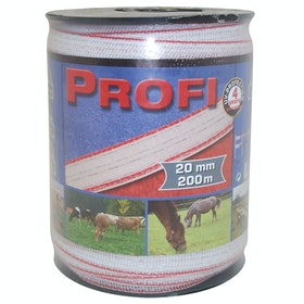 Corral Profi Tape 200m X 20mm Electric Fencing - White