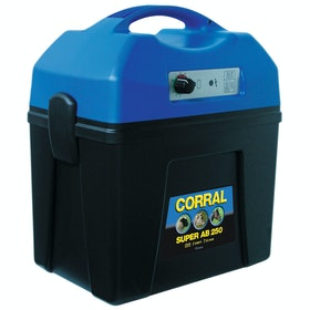 Corral Super AB 250 Rechargeable Battery Unit for Electric Fencing - Black Blue