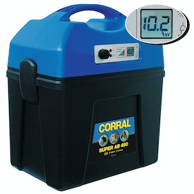 Corral Super AB 450 Digital Rechargeable Battery Unit for Electric Fencing - Black Blue
