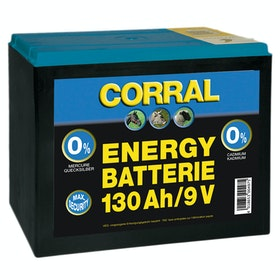 Corral Zinc Carbon 130 AH Dry Battery for Electric Fencing - Black
