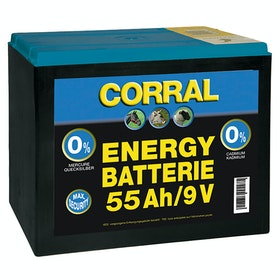 Corral Zinc Carbon 55 AH Dry Battery for Electric Fencing - Black