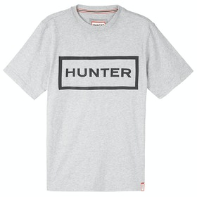 Hunter Original Kurzarm-T-Shirt - Grey Marl/black