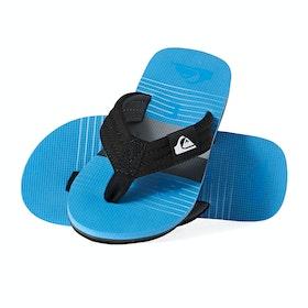 Quiksilver Molokai Layback Boys Sandals - Black Grey Blue