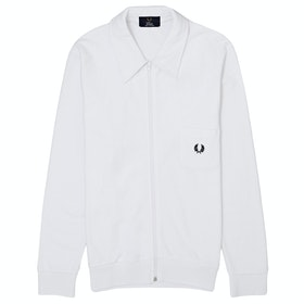 Fred Perry Re Issues Towelling Track Jacket - White
