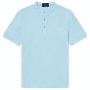 Fred Perry Re Issues Collarless Pique Short Sleeve T-Shirt