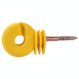 Corral Ring Insulator Compact for Electric Fencing - Yellow