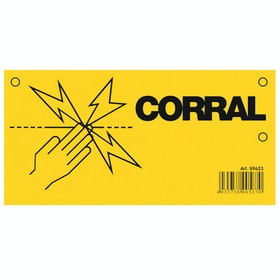 Corral Warning Sign for Electric Fencing - Yellow