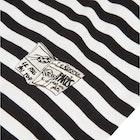 Maison Labiche Striped Newspaper Herren Kurzarm-T-Shirt