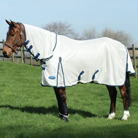 Weatherbeeta ComFiTec Airflow II Combo Fly Rug - White Blue Sea Blue