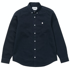 Carhartt Madison Hemd - Dark Navy Wax